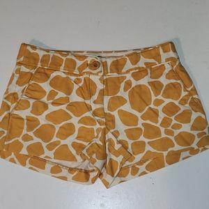 J.Crew 2 city fit giraffe 🦒print shorts